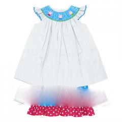 Love sign smocked set DR1174