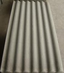 Feuille ondulée de toiture non amiante