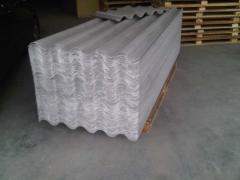 Feuille ondulée de fibro ciment non amiante