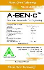 Benthonic powder for chisel solutions