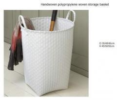 Handwoven polypropylene woven storage basket