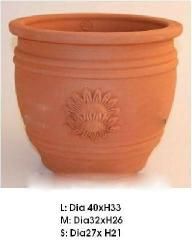 Large terracotta pot, terracotta planter