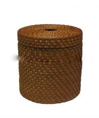 Vietnam handmade round rattan storage box