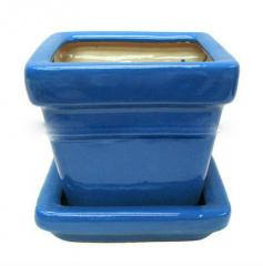 Square Indoor Ceramic Flower Pot