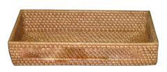 Vietnam rectangular rattan tray