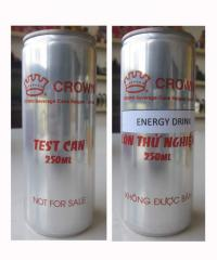 Energy Drink 250ml in Aluminum can