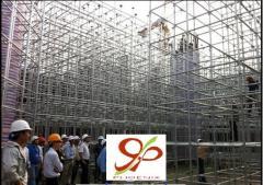 Dowelled scaffoldings