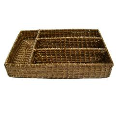 Rattan basket for kitchenware