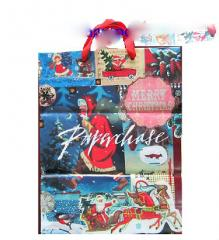 DT_18 Christmas plastic poly bag with pp cotton