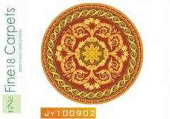 Mẫu thảm dệt bằng tay hình tròn