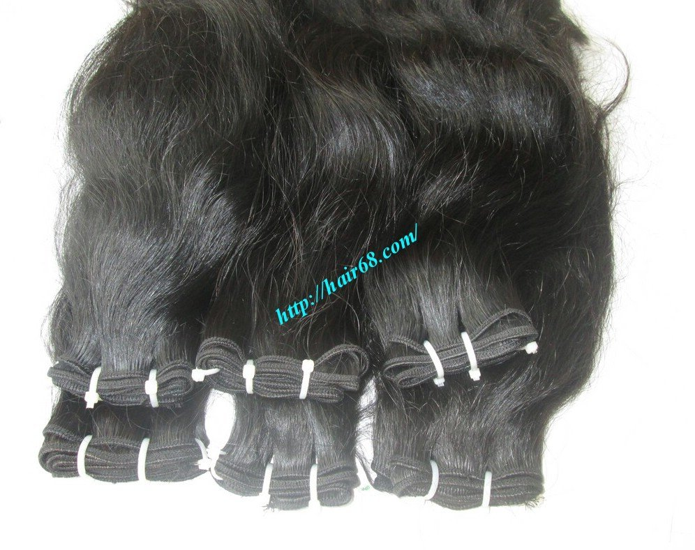 24_inch_wavy_human_weave_hair_single_drawn