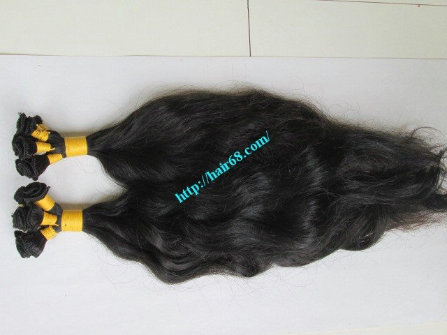 8_inch_hand_tied_remy_hair_weft_wavy_single