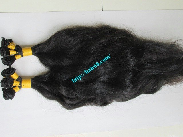 10_inch_hand_tied_human_hair_weft_wavy_single