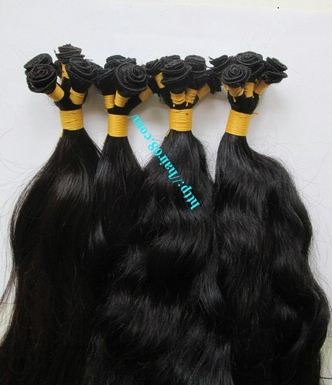 10_inch_hand_tied_human_hair_wefts_wavy_double