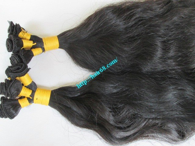 10_inch_hand_tied_human_hair_weft_wavy_single