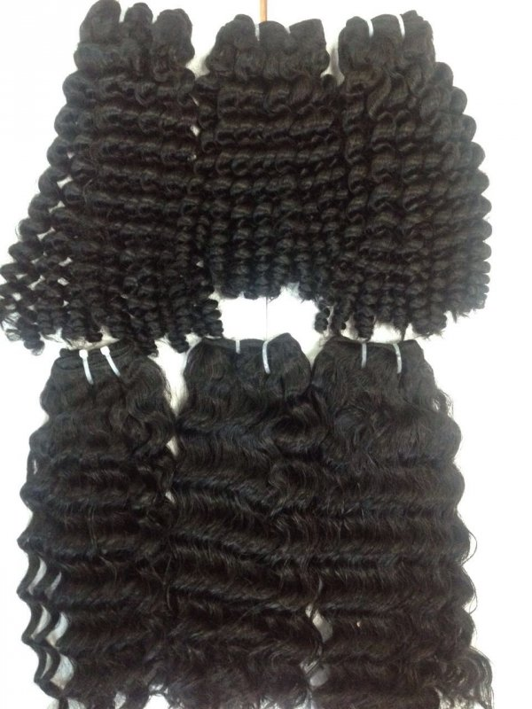 human_hair_wavy_wefted_hair_extension