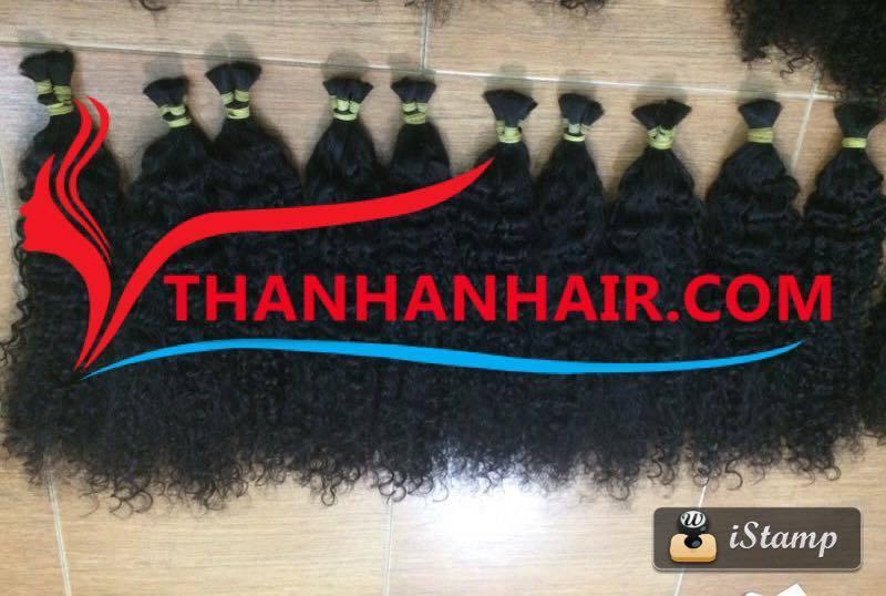 steam_curly_bulk_hair_remy_vietnamese_hair
