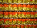 Pickled gherkins and cherry tomato