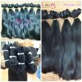 Hot sale straight hair 100% human hair from Vietnam in bulk and weft