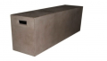 Premium of quality of concrete of a bench street furniture