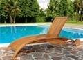 Wood chaise-longue