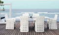 Modern style- poly rattan dining set furniture
