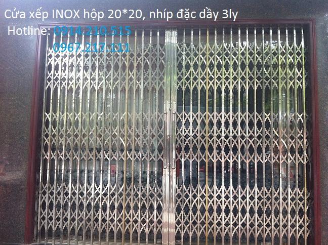 Đặt hàng Lắp cửa xếp INOX 304