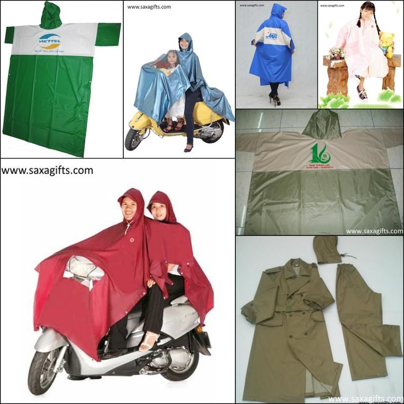 Đặt hàng Công ty SAXA chuyên sản xuất áo mưa cánh dơi, áo mưa bộ, in áo mưa...