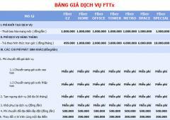 Bảng Giá Dịch Vụ Fttx