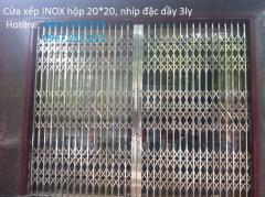 Lắp cửa xếp INOX 304