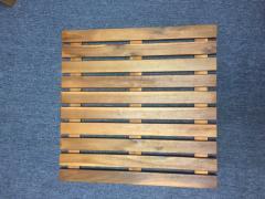 High quality acacia bath mat non slip for bathroom furniture